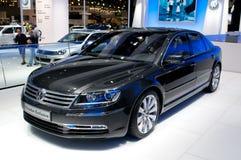 Exclusieve de Faëton van Volkswagen - Europese première royalty-vrije stock foto's