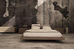 Exclusieve Ontwerpslaapkamer | 3d Binnenlandse architectuur Royalty-vrije Stock Afbeelding