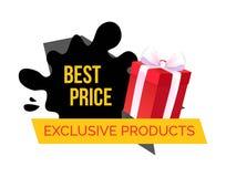 Exclusieve Producten, Beste Keus en Prijs in Winkel royalty-vrije illustratie
