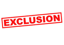 EXCLUSION Royalty Free Stock Images