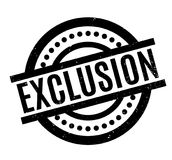 Exclusion rubber stamp Royalty Free Stock Images