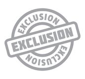 Exclusion rubber stamp Royalty Free Stock Image
