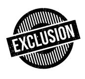 Exclusion rubber stamp Stock Photos