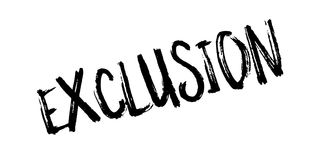 Exclusion rubber stamp Royalty Free Stock Photo