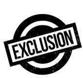Exclusion rubber stamp Royalty Free Stock Photography