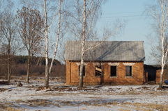 The exclusion zone of the Chernobyl NPP in the Gomel region (Belarus). Royalty Free Stock Photo