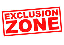 EXCLUSION ZONE Royalty Free Stock Photography