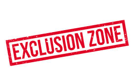 Exclusion Zone rubber stamp Royalty Free Stock Images