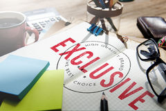 Exclusive Badge Banner Excellence Premium Concept.  Royalty Free Stock Photo