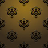 Exclusive black baroque pattern Stock Photos
