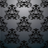 Exclusive black baroque pattern Royalty Free Stock Image