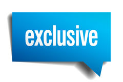 exclusive blue paper speech bubble Royalty Free Stock Photo