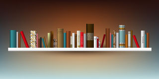 Exclusive Book shelf. Vector illustration. Royalty Free Stock Photography
