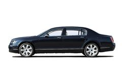 Exclusive business sedan. Black exclusive business sedan isolated on whit stock photography