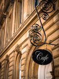 Exclusive Cafe Sign Royalty Free Stock Photo