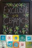 Exclusive ceramics sign Stock Photography