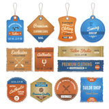 Exclusive Clothing Labels Set Royalty Free Stock Image