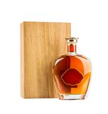 Exclusive cognac bottle Stock Images