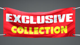 Exclusive collection, banner. Exclusive collection, limited, banner advertising Royalty Free Stock Photos