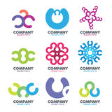 Abstract logo of the circles letters �. Exclusive collection of colored stylized logos Stock Images