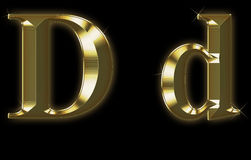 Exclusive collection font from brushed gold - D Stock Image