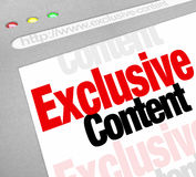 Exclusive Content Website Online Web Information Resource Restri Royalty Free Stock Photo