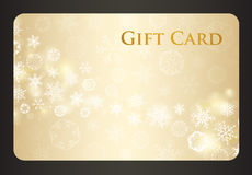 Exclusive cream christmas gift card with stream of Royalty Free Stock Photography