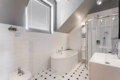 Exclusive decor of washroom Stock Image