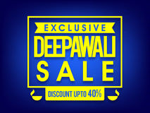 Exclusive Deepawali Sale Poster, Banner or Flyer. Exclusive Deepawali Sale Banner, Big Sale Flyer, Special Discount Offer Poster, Upto 40% Off, Sale typographic vector illustration