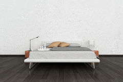 Exclusive Design Bedroom | 3d Interior architecture Royalty Free Stock Images