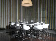 Exclusive Dining table. White chair Royalty Free Stock Images