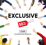 Exclusive Discount Limited Luxury Offer Private Concept Stock Photos