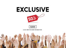 Exclusive Discount Limited Luxury Offer Private Concept Stock Images