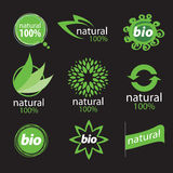 Logo additions. Exclusive eco logo natural products Stock Photos