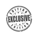 Exclusive edition vector stamp Royalty Free Stock Photo