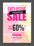 Exclusive Fashion Sale Poster, Banner or Flyer. Stock Photo