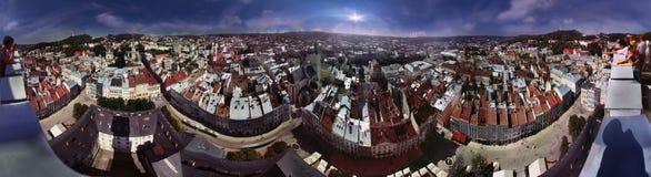 EXCLUSIVE-glued panorama Lviv Stock Photos