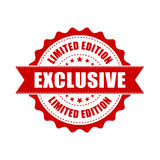 Exclusive grunge rubber stamp. Vector illustration on white back Stock Photo