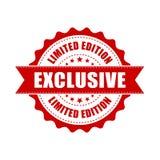 Exclusive grunge rubber stamp. Vector illustration on white back stock illustration