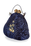 Exclusive handmade toy in the form of blue handbag, isolated Royalty Free Stock Image