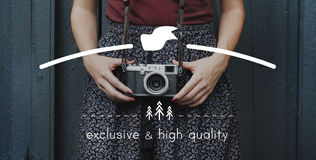 Exclusive High Quality Elegance Value Private Rank Concept Royalty Free Stock Image