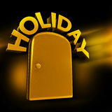 Exclusive holiday travel experience concept. Golden entrance to luxury holiday concept 3d illustration Royalty Free Stock Photo
