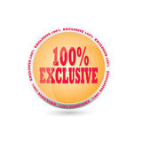 Exclusive icon. On white background Royalty Free Stock Image