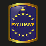 Exclusive label vector. Exclusive label on black background, vector illustration Royalty Free Stock Photography