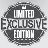 Exclusive limited edition retro label, vector illustration. Exclusive limited edition retro label, vector Royalty Free Stock Images