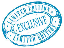 Exclusive limited edition stamp Royalty Free Stock Photo