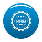 Exclusive logo, simple style. Exclusive logo. Simple illustration of exclusive logo for web royalty free illustration