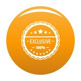Exclusive logo, simple style. Exclusive logo. Simple illustration of exclusive vector logo for any design orange royalty free illustration