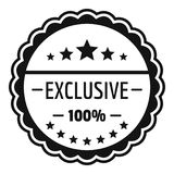 Exclusive logo, simple style. Exclusive logo. Simple illustration of exclusive logo for web vector illustration
