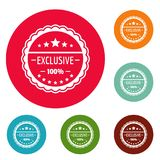 Exclusive logo, simple style. Exclusive logo. Simple illustration of exclusive logo for web stock illustration